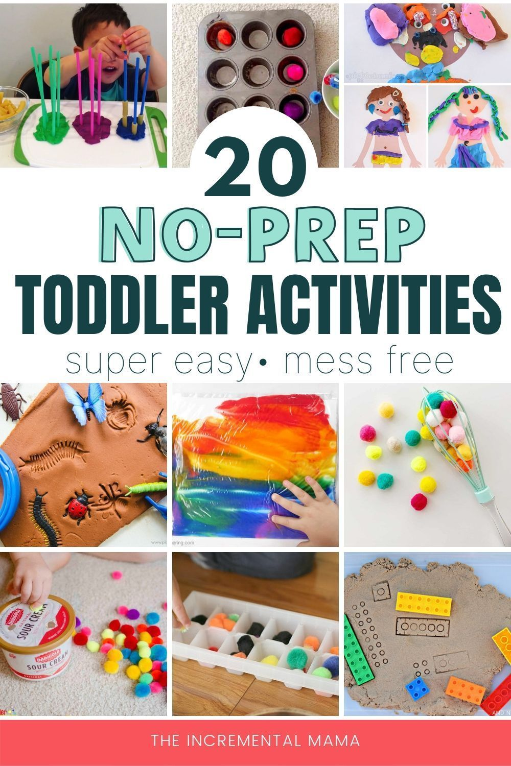These 20 Activities For 2 Year Olds Are Super Easy Mess Free And Will Keep Yo Easy Toddler Activities Toddler Learning Activities Toddler Activities Daycare