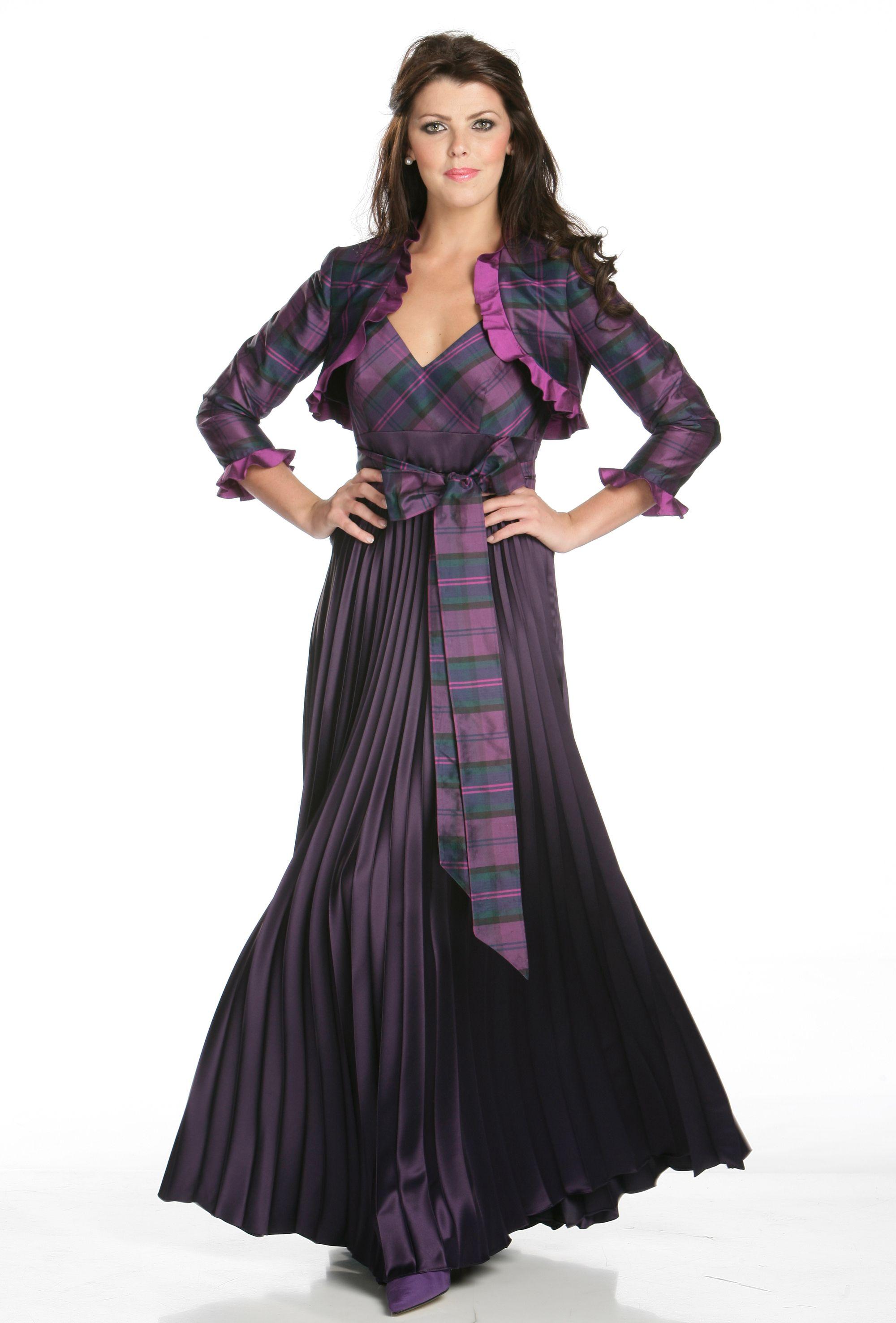 Scottish tartan wedding dress  Pin by ceecee on Scottish Wedding Stuff in   Pinterest