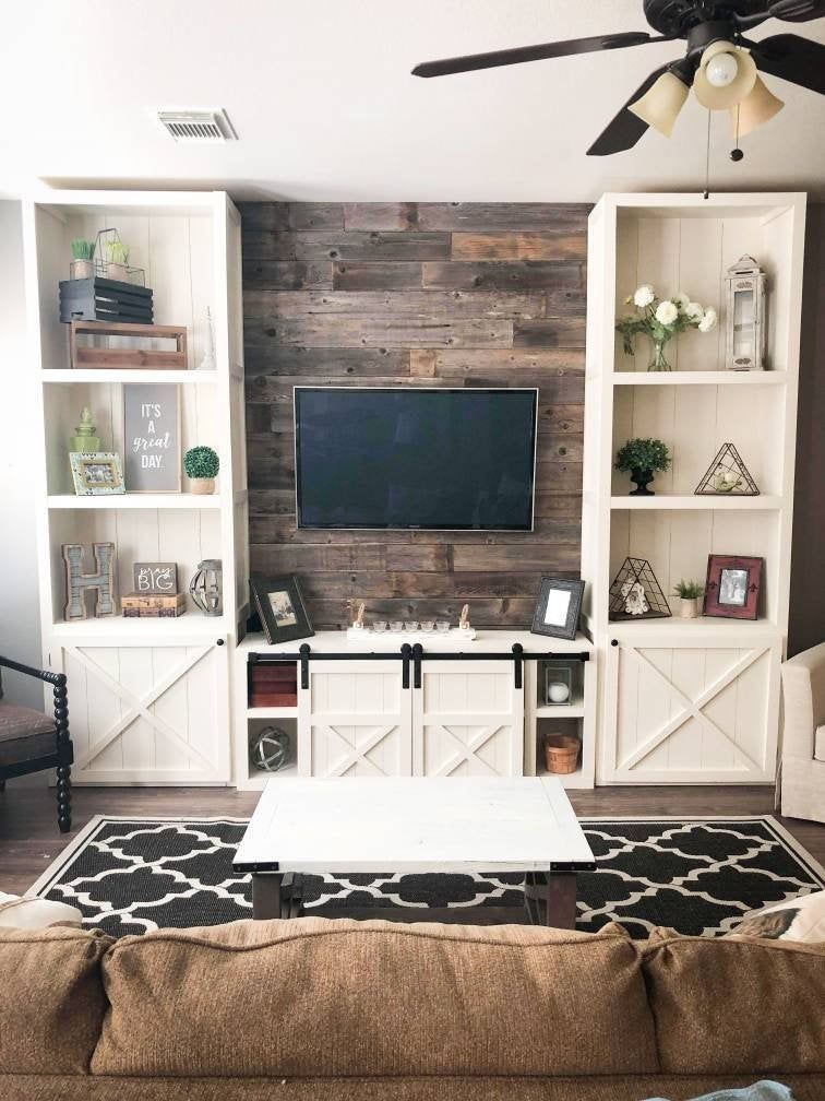 31 Unordinary Entertainment Centers Design Ideas You Must Try In Your Home Cluedecor Living Room Built Ins Farm House Living Room Living Room Entertainment Center Small living room entertainment center