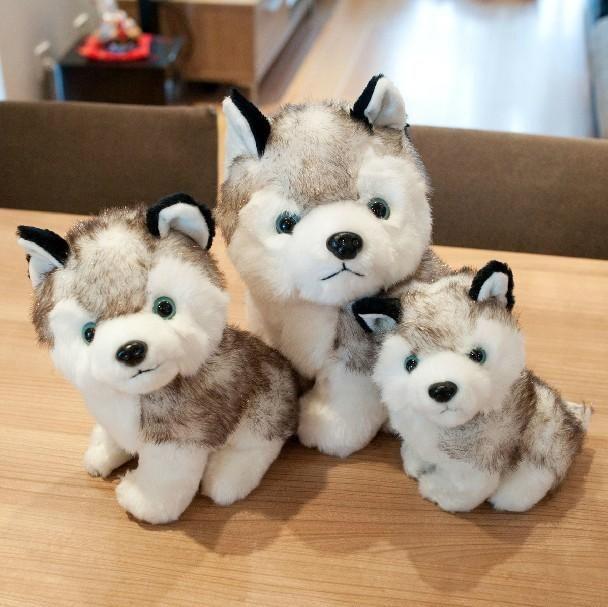 2016 Factory Price Kawaii 20 Cm Simulation Husky Dog Plush Toy