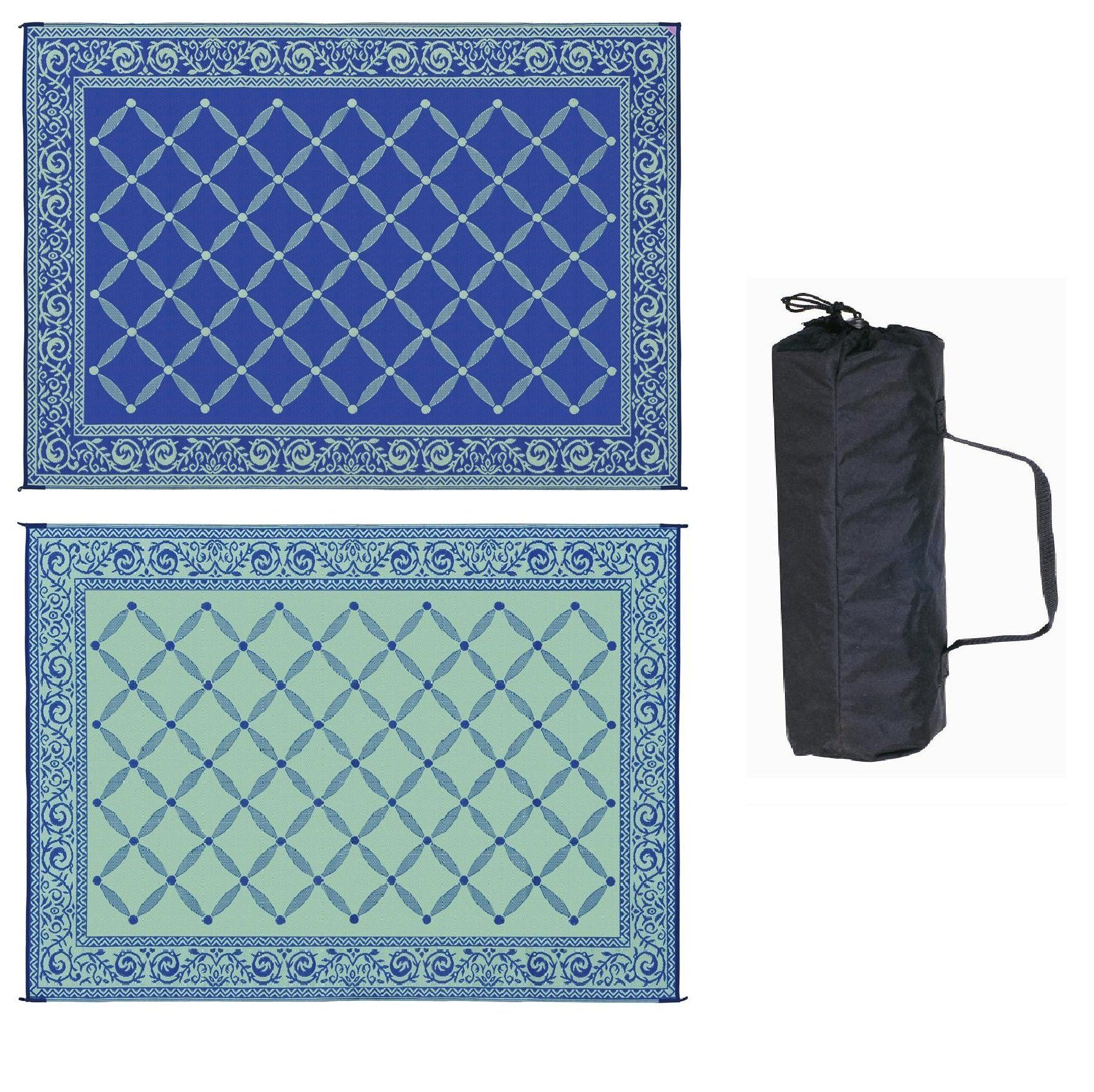 $52 Amazon Reversible Mats 9 X 12 Garden Mat Blue Light