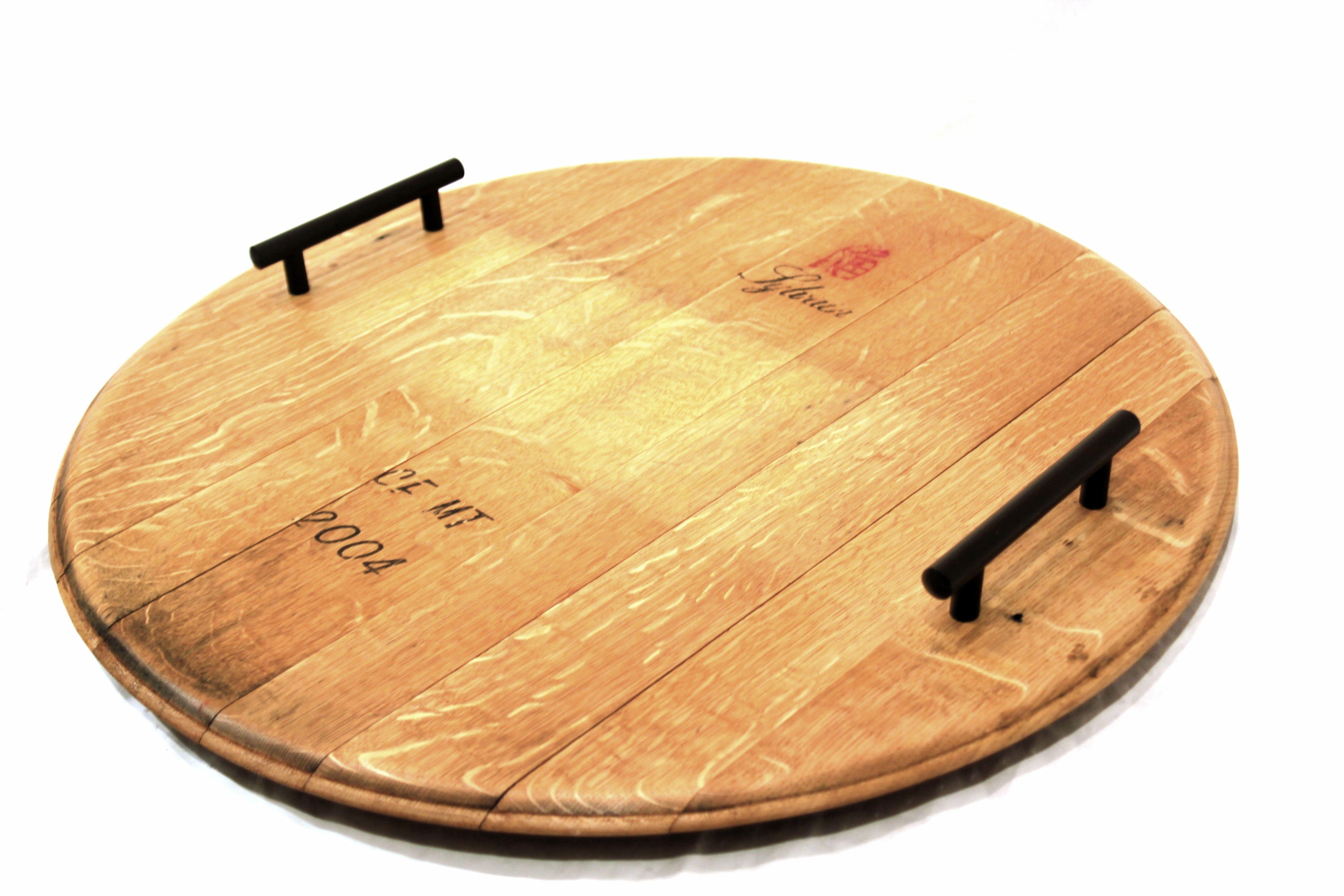 Wine Barrel top serving platter | Wooden Barrel Furniture ...