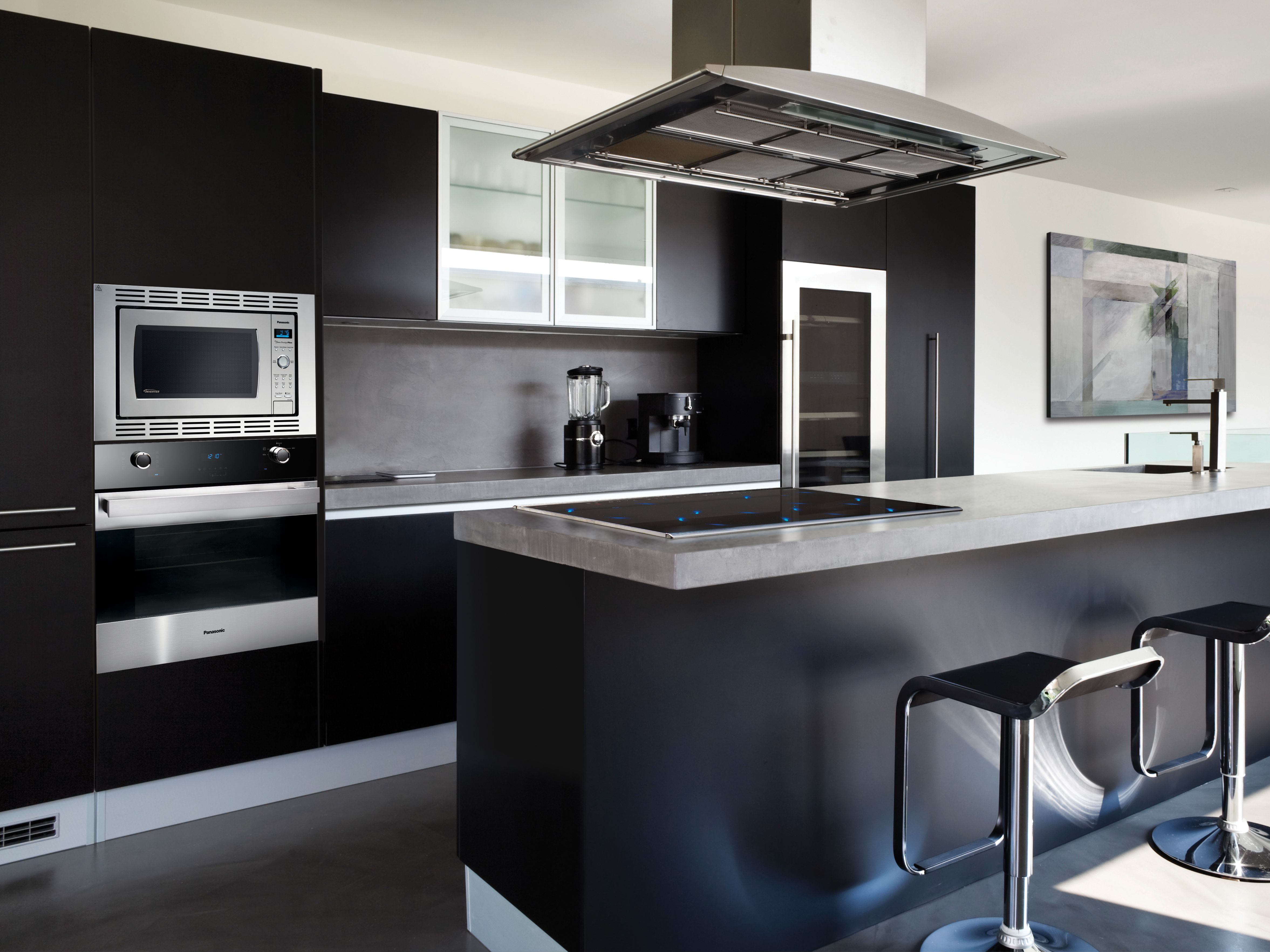 Pin On Modern Black Silver Kitchen