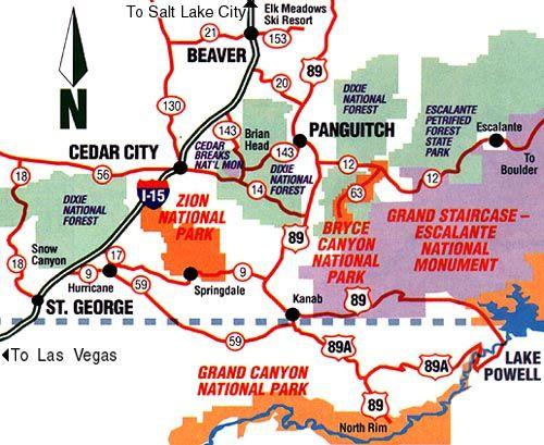 utah national parks - Google Search | ART217: Map/ Harrison ...