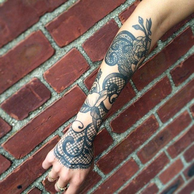 Henna Wrist Designs Lace: Lace Sleeve Tattoos, Lace Tattoo