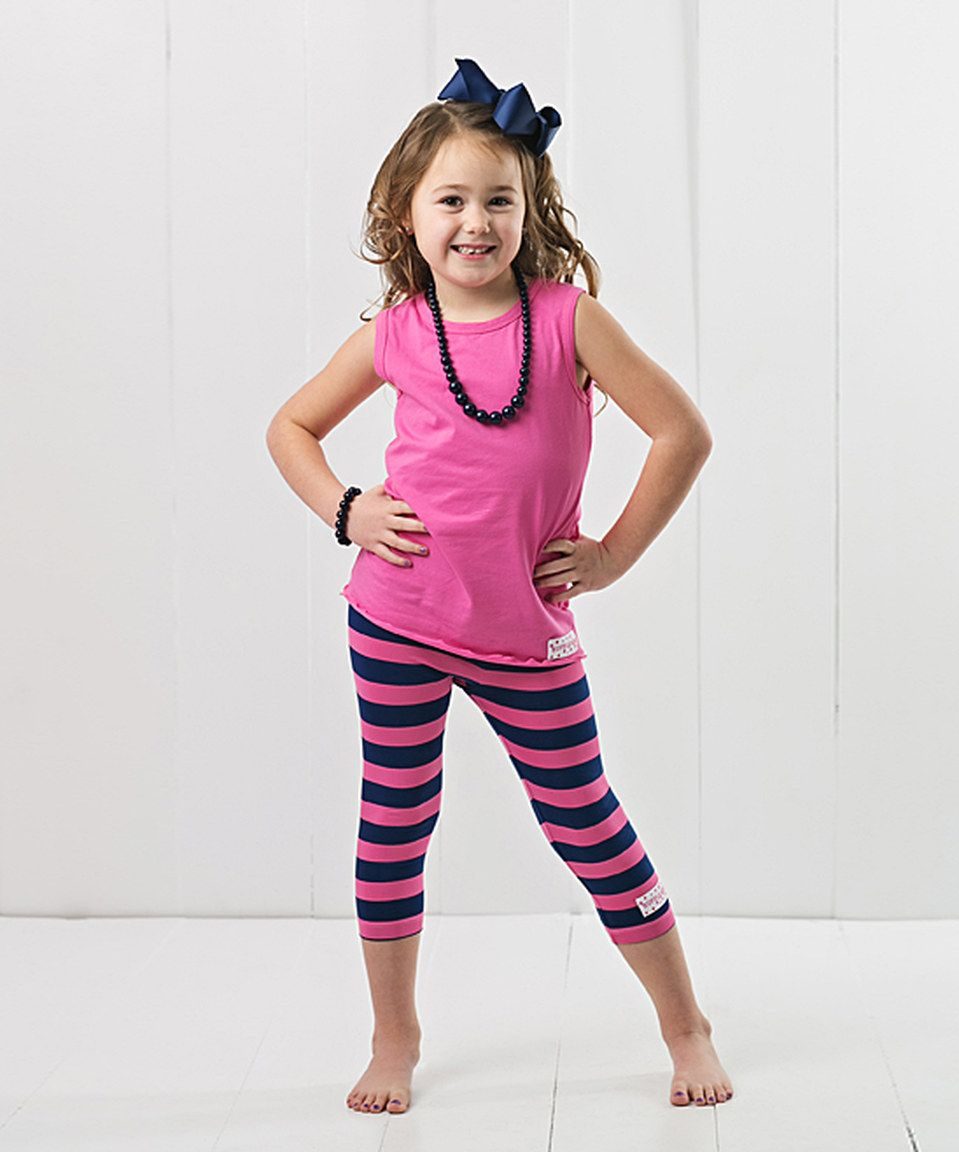 bba99bd5f65f4 Look what I found on #zulily! Ruffle Girl Hot Pink Tank & Capri Leggings  Set - Toddler & Girls by Ruffle Girl #zulilyfinds
