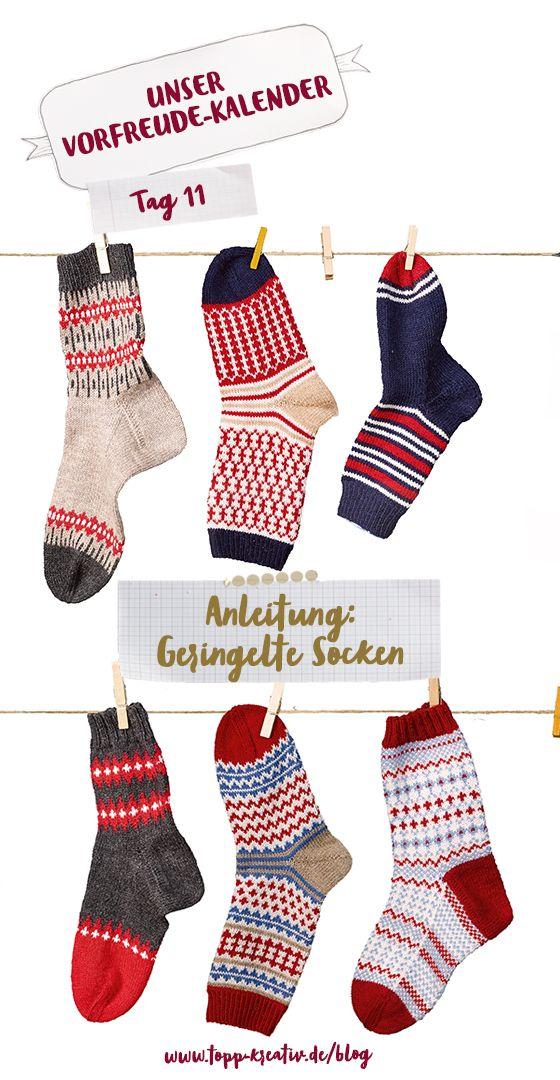 Photo of Anleitung für gestreifte Socken