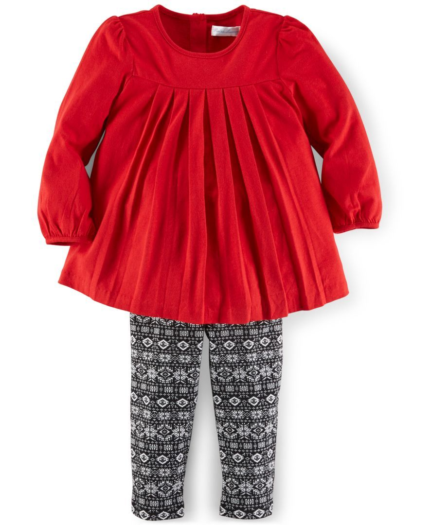 Ralph Lauren Baby Girls' 2-Piece Pleated Tunic & Legging