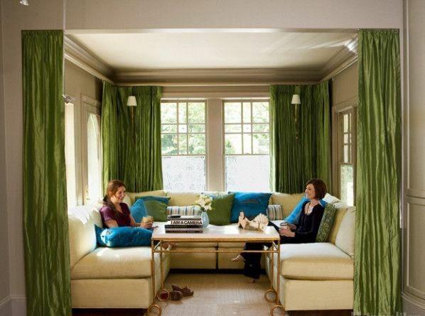 Hochwertig Gardinen Vorhang Grün Für Alle Saisons Wohnzimmer