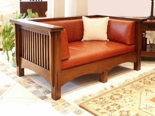 Arts And Crafts Mission Stickley Style Loveseat Circa 1901