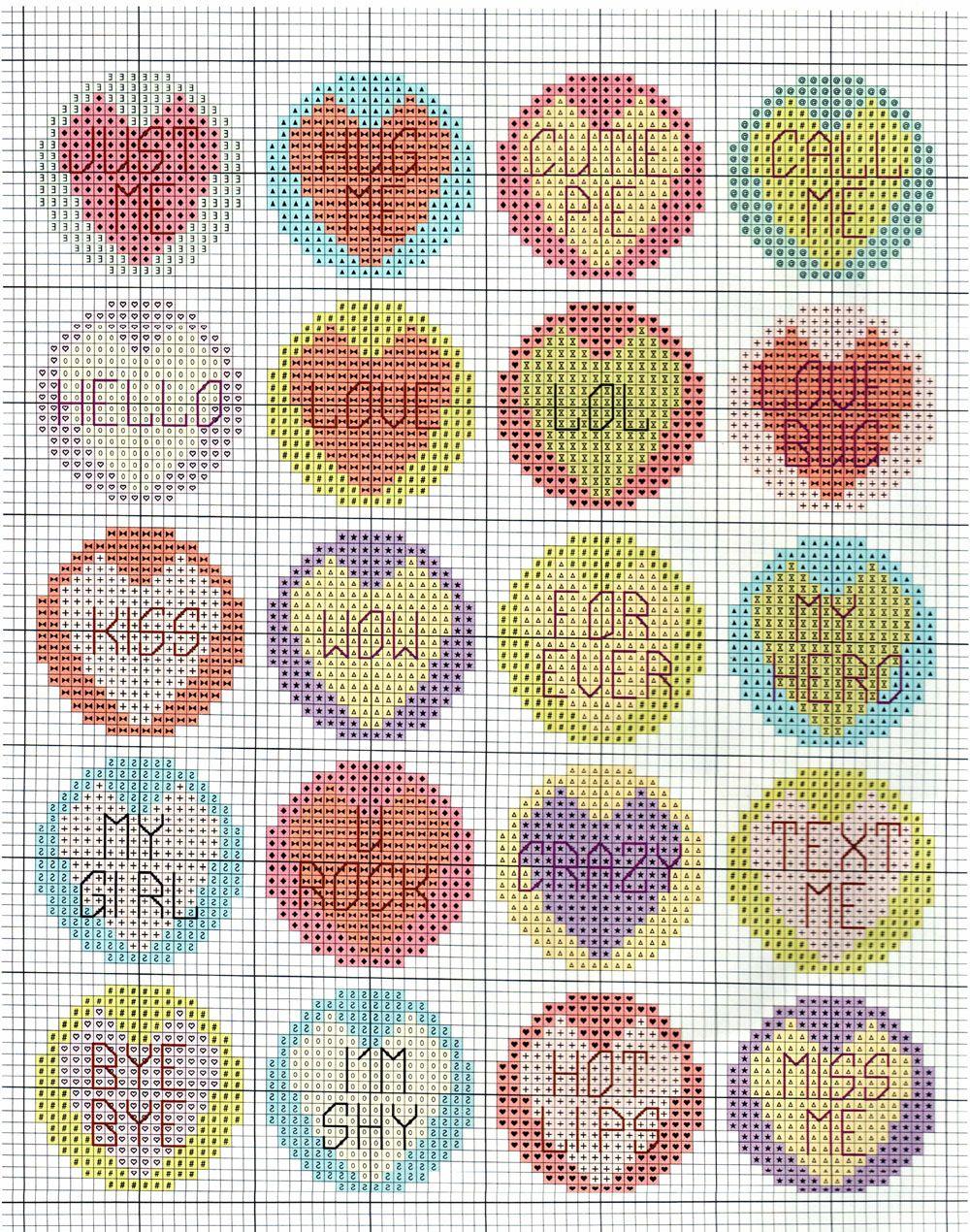 Il Portale Stitch Cross: Buttons romantico