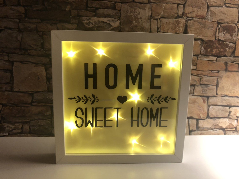 Beleuchteter Bilderrahmen Home Sweet Home Led Bilderrahmen Beleuchteter Bilderrahmen Bilderrahmen