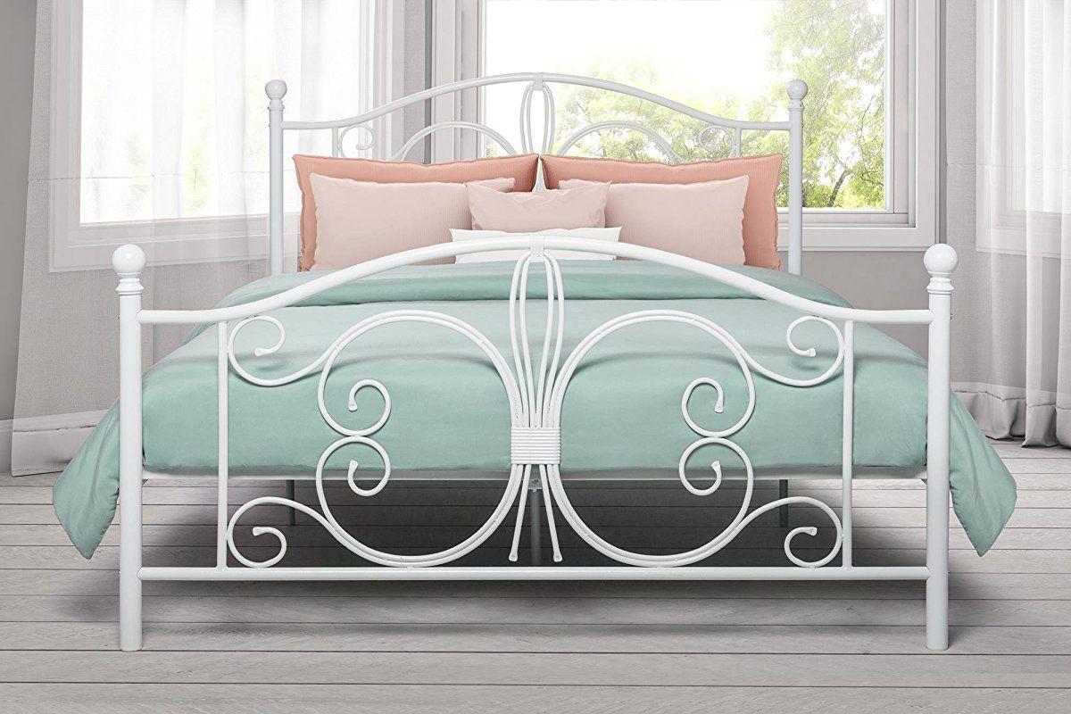 Dhp Bombay Metal Bed Frame Vintage Design And Includes Metal Slats Full Size White Bed Design Bed Frame Sizes Metal Bed Frame