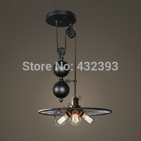Find More Information about 3 lights Rh loft Vintage Industrial Pendant Light Pulley Mirro Iron Pendant & Find More Information about 3 lights Rh loft Vintage Industrial ...