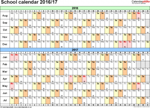 Academic Calendar  Templates  Printables