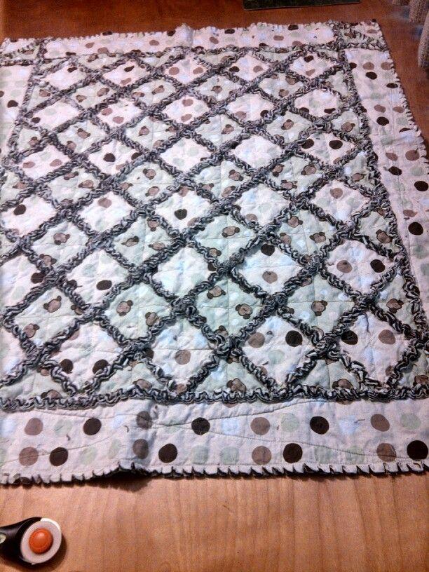 Layer Cake Rag Quilt Tutorial Rag Quilt Tutorial Flannel Rag Quilts Rag Quilt Patterns