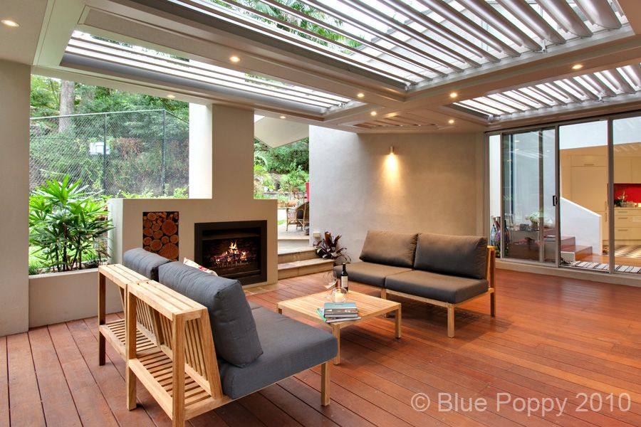 Covered outdoor entertaining area with built in fireplace ... on Covered Outdoor Living Area id=24010