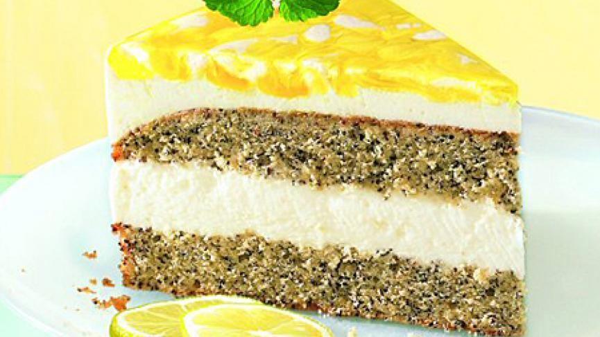 Mohn Zitronen Torte Rezept Kuchen Und Torten Lebensmittel Essen Kuchen Ohne Backen