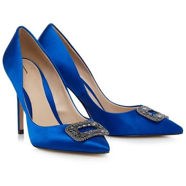 Image result for J by Jasper Conran - Blue stone buckle high court shoes