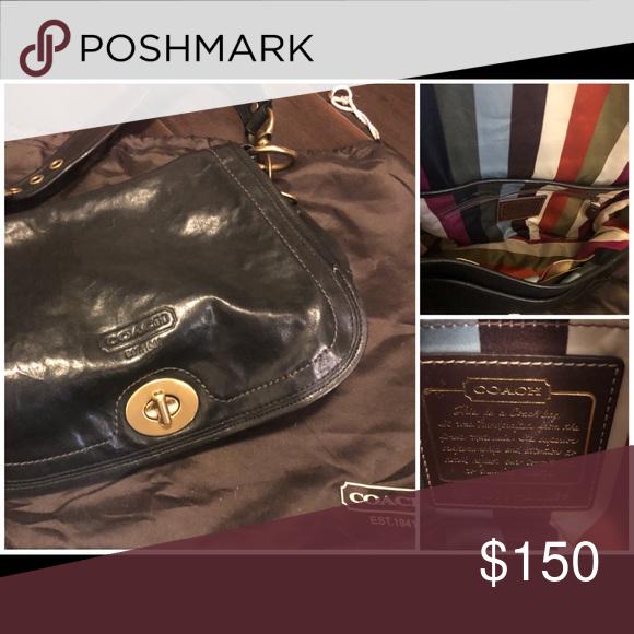 Beautiful Classic Leather Coach Purse High End Bag