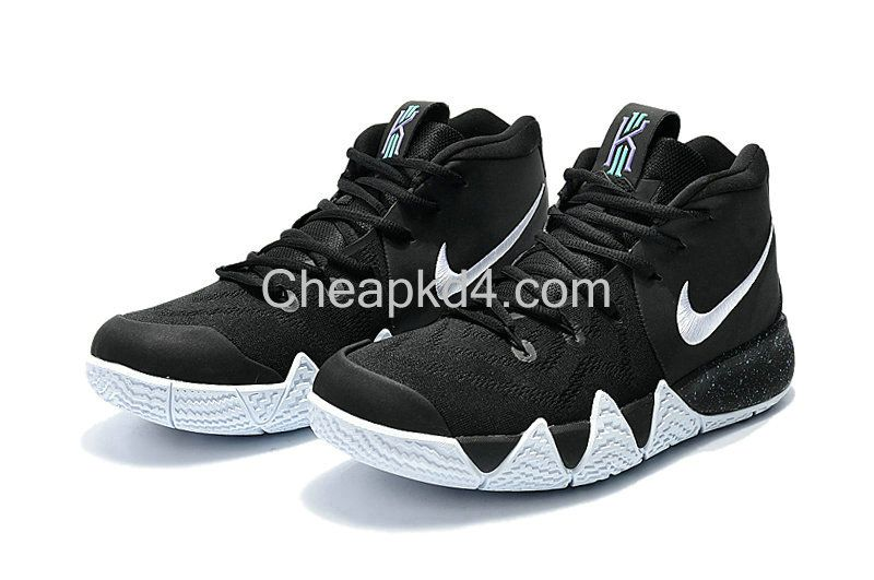 8b3b34646c88 Latest Cheap New Arrival March Nike Cheap Kyrie 4 Black White-Anthracite-Light  Racer Blue 943806-002