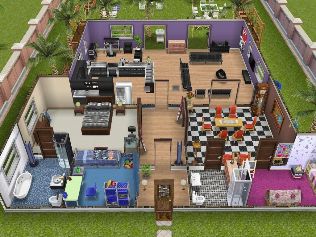 House design sims - Sims Freeplay House Ideas Google Search