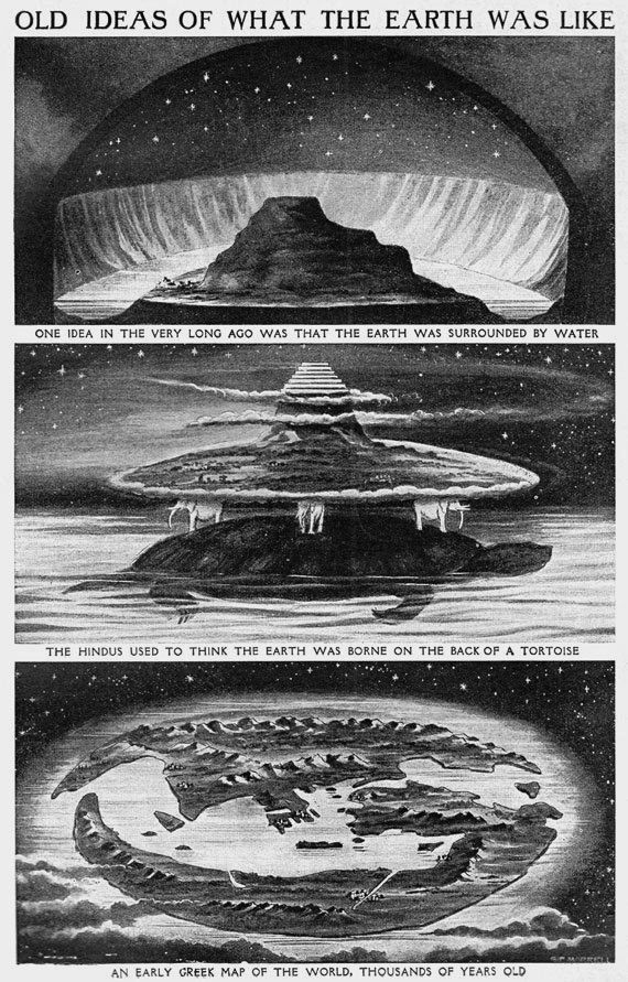 Old Ideas of what the Earth was like, 1900.