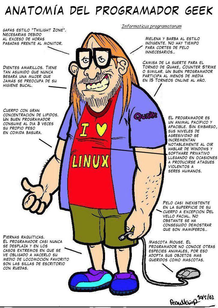 Anatomía del programador geek. | Humor e imágenes divertidas ...