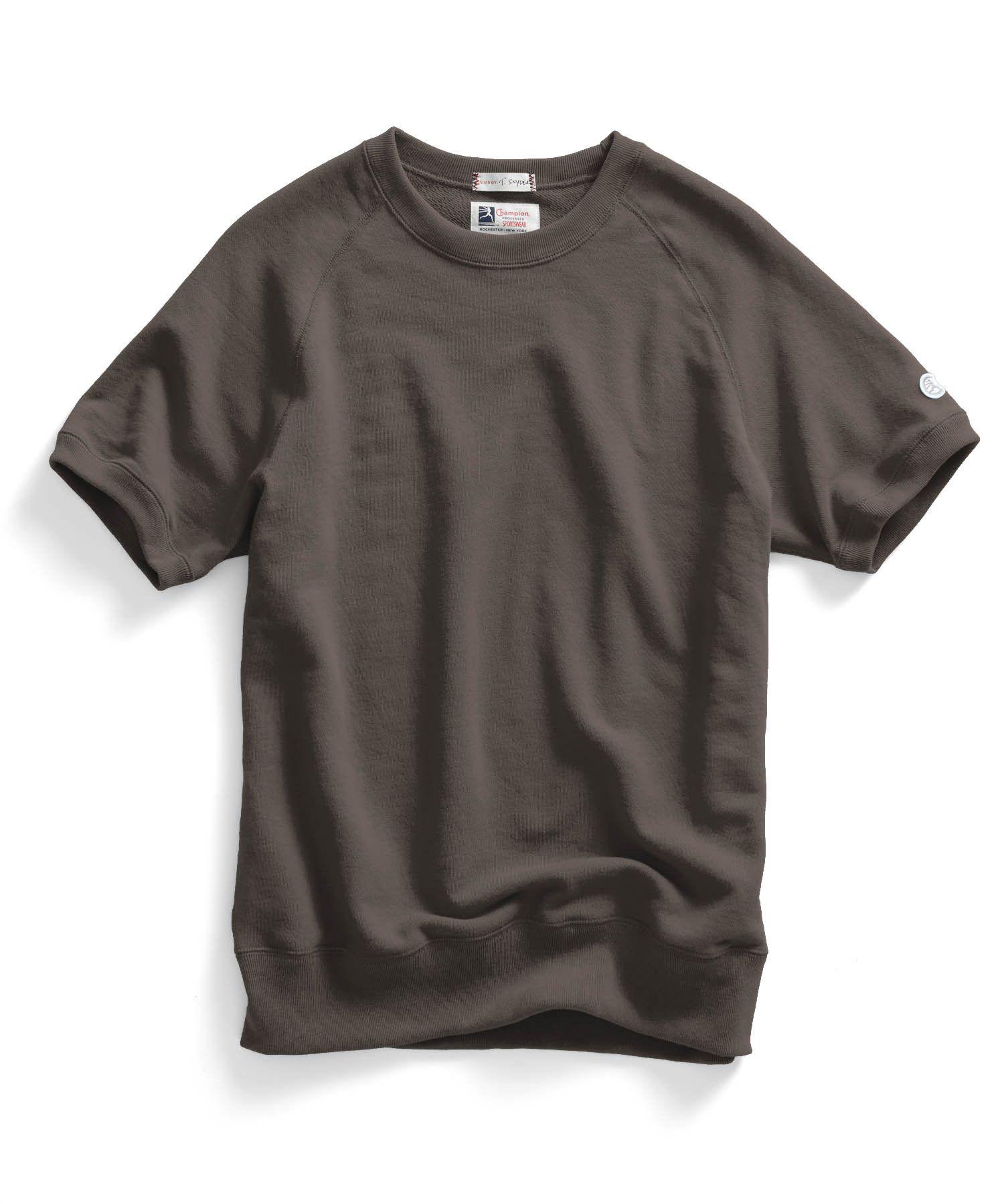 e75922ce Short Sleeve Sweatshirt in Earth Brown. Short Sleeve Sweatshirt in Earth  Brown Todd Snyder Champion ...