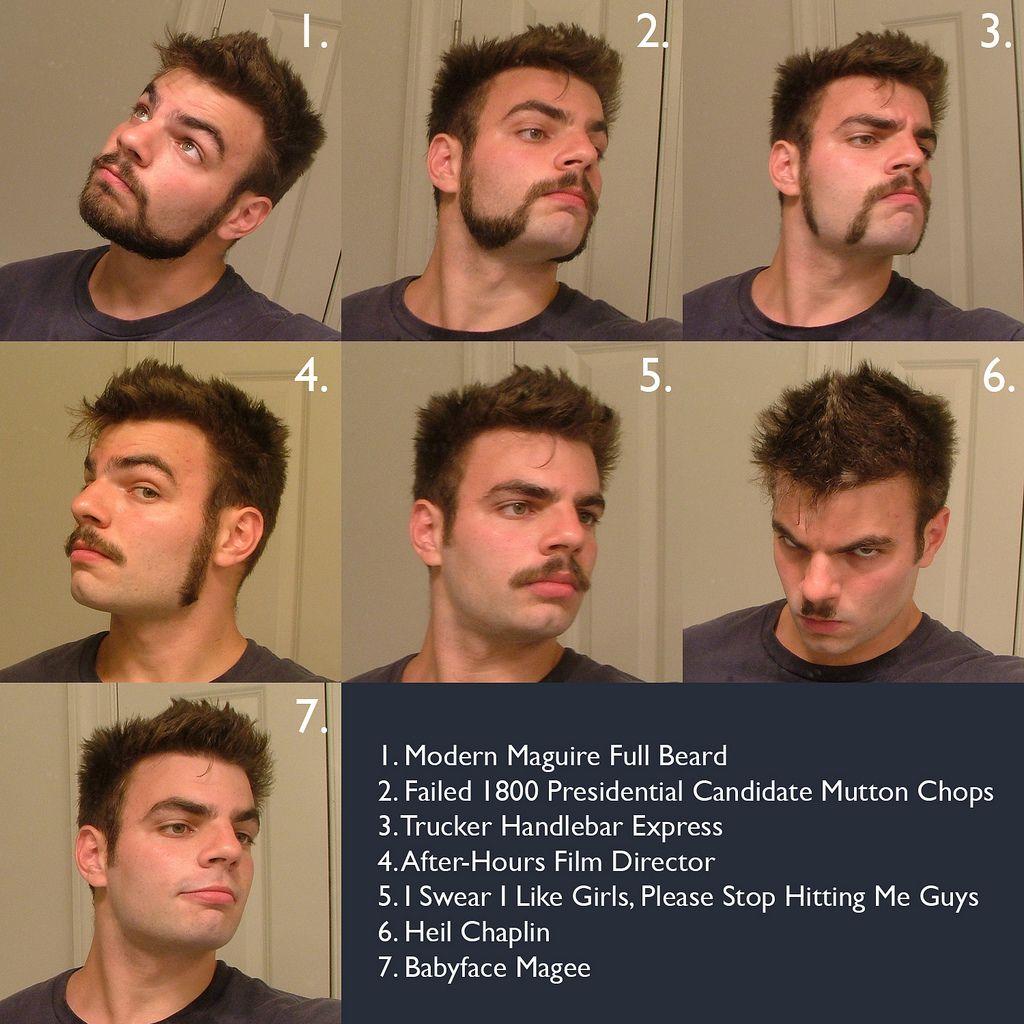 Men's Facial Hair Style Chart Mens facial, Facial hair