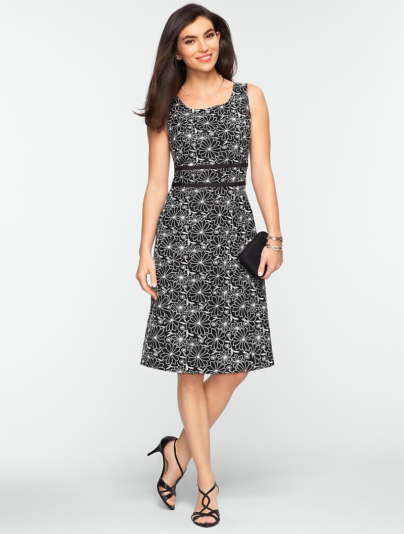 a54dc12d455 Talbots - Embroidered Daisy Dress