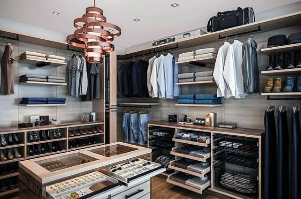 Creative Mens Walk In Closet With Decor Inspiration