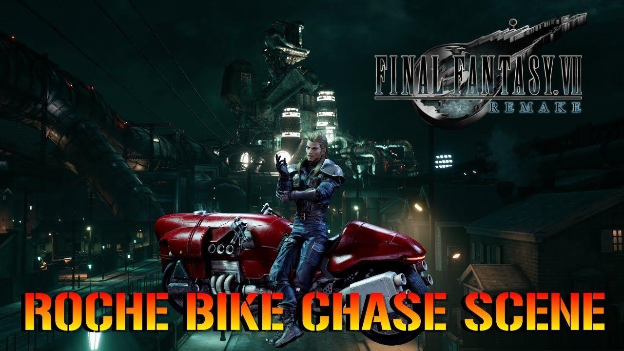 Final Fantasy 7 Remake Roche Bike Chase Scene HD in 2020
