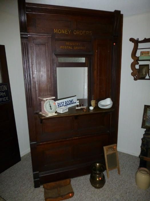 Antique Post Office Clerku0027s Window