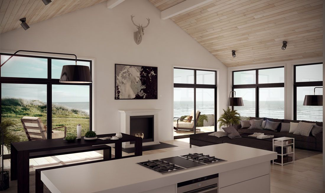 Small Modern Farmhouse with three bedrooms, minimalist