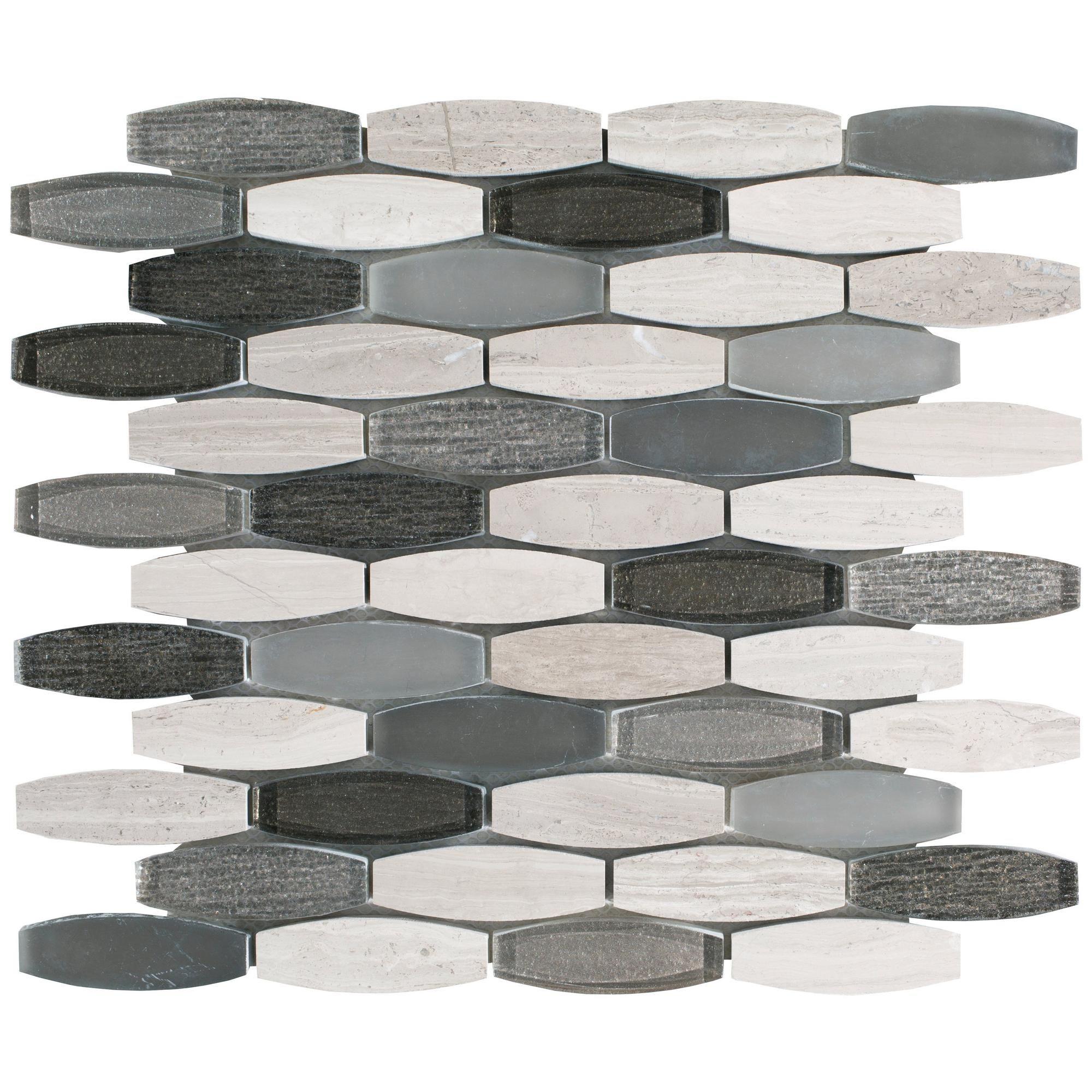- Harbor Glass Stone Mix Mosaic Best Bathroom Flooring, Bathroom