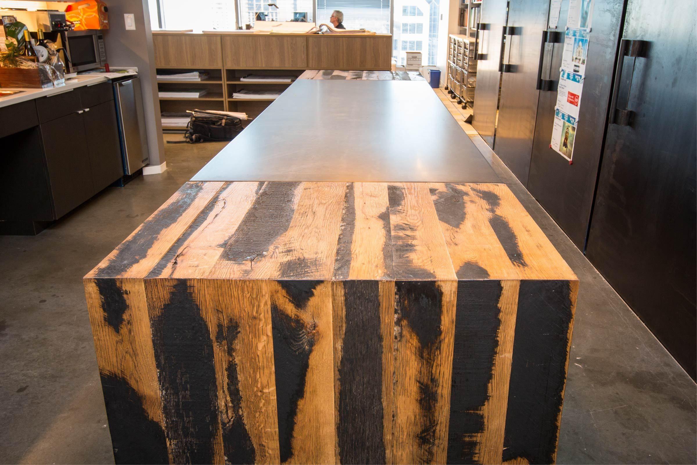 boka powell - dovetail custom woodwork #custom #steelwork