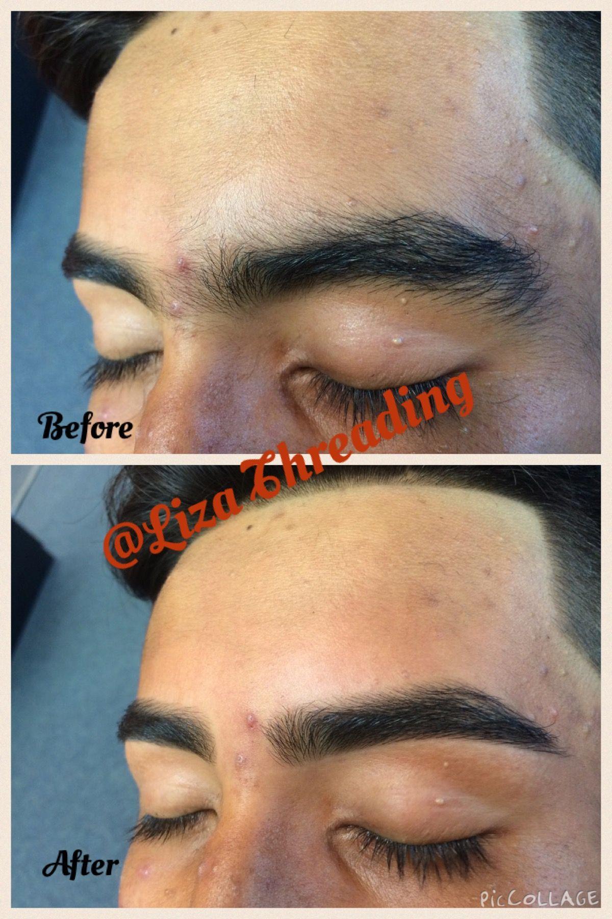 Beforeafter eyebrow threading at liza threading eyebrow