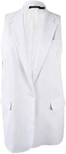 Amazing offer on Lauren Ralph Lauren Women's Stretch Crepe Vest (M, White) online #ralphlaurenwomensclothing