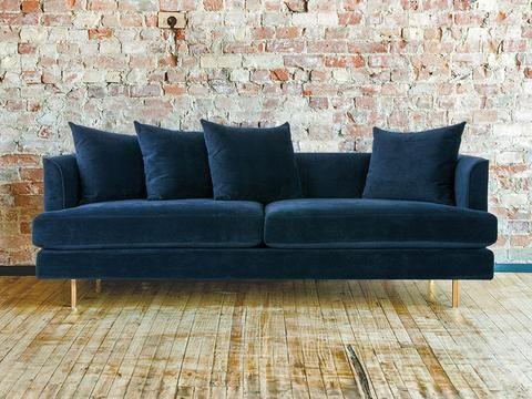 Best Margot Midnight Blue Velvet Sofa Blue Velvet Sofa 400 x 300