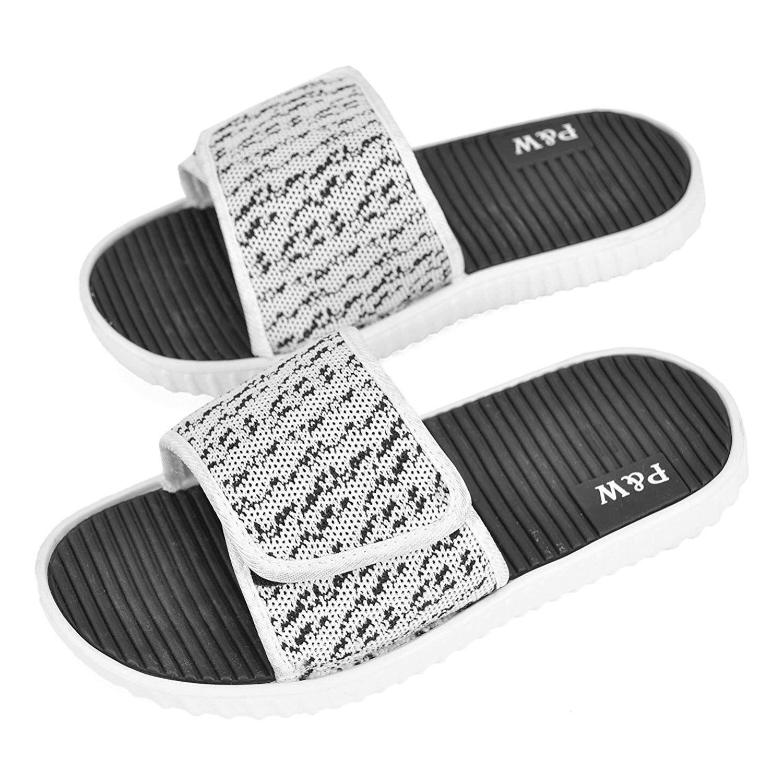 Womens Ladies Glitter Slip On Mule Summer Beach Crisscross Flat Flexible Sandals