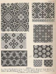 Latvian traditional knitting charts