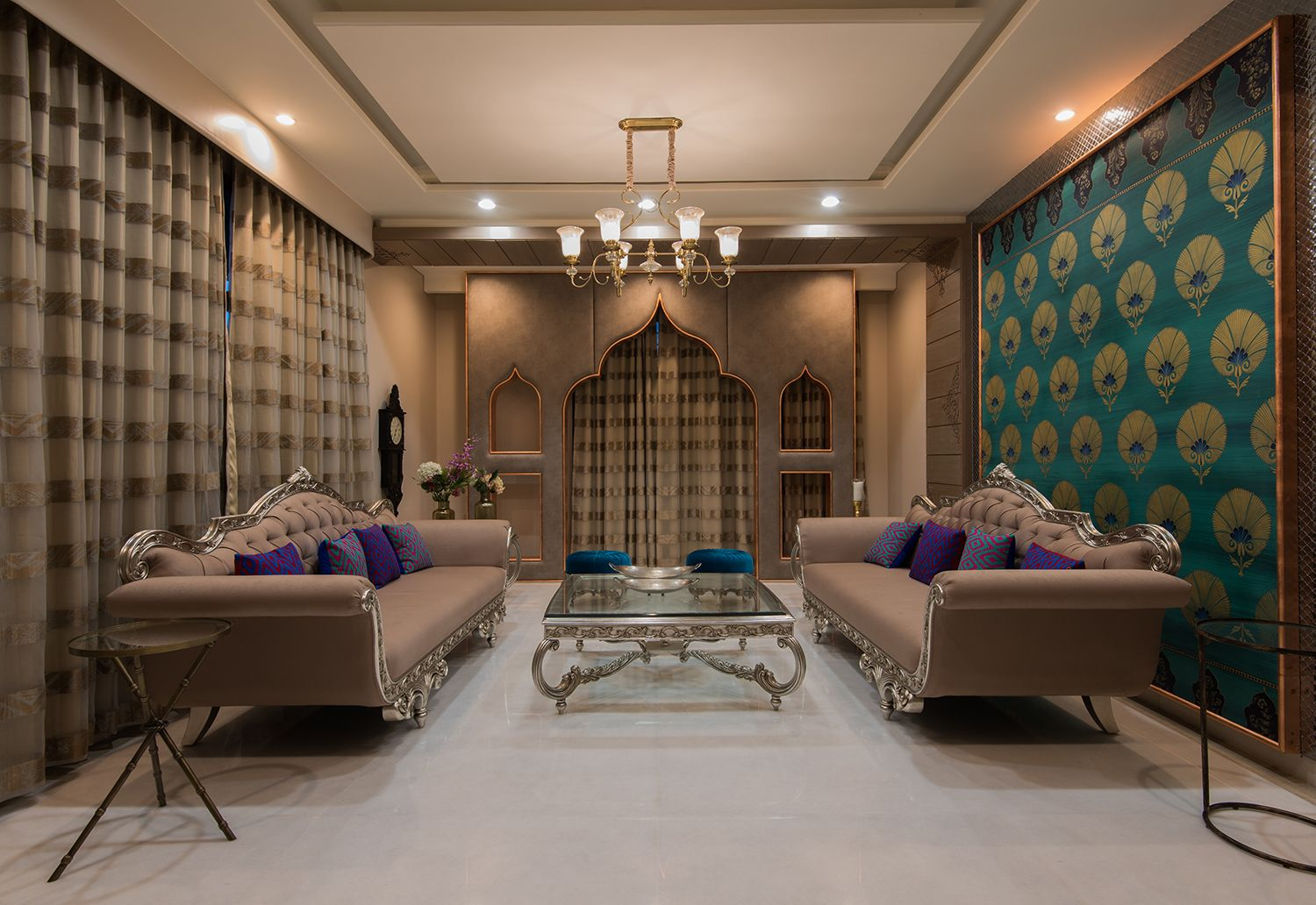 Traditional Theme Living Room Designs India