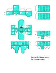 Diamond Armor Manualidades De Minecraft Armables De Minecraft