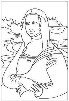 Mona Lisa Coloring Page Printable Mona Lisa Coloring Art Mona Mona Coloring Page