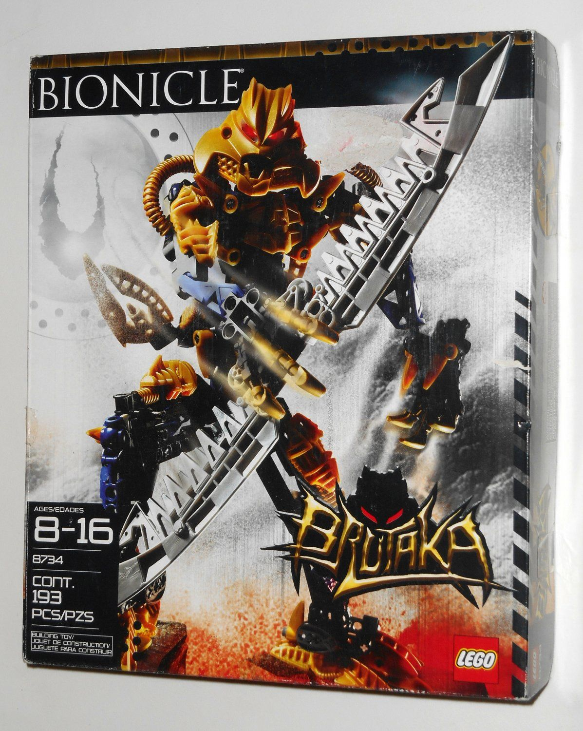 For Sale Lego Bionicle Brutaka 8734 Open Box Factory Sealed Bags