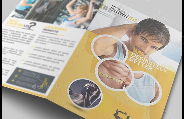 Fitness BiFold Brochure Template Design Is Perfect For Promoting