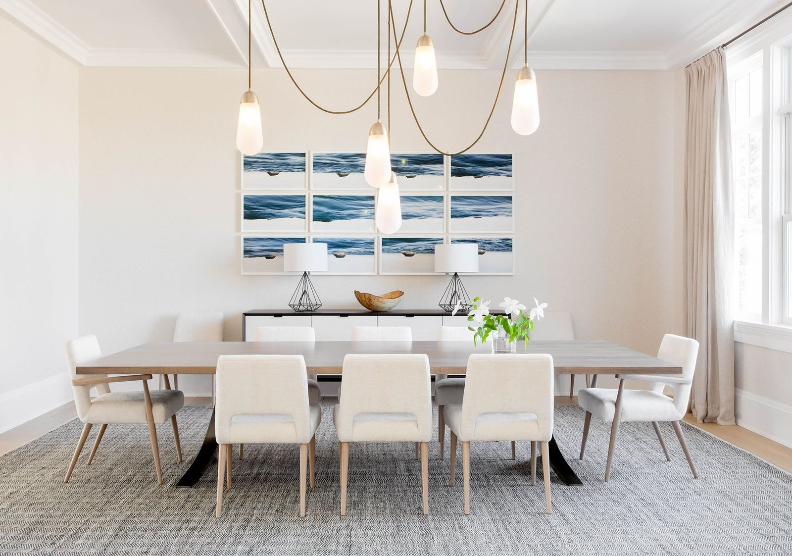 This sophisticated hamptons home masters beachy minimalism without