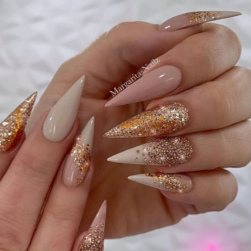 55 Trendy Rose Gold Nails That You Can't Resist (With ...