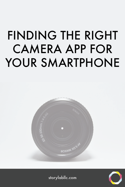 How to find the right camera app for your smartphone when new apps come out every single day.   -camera, smartphone, content marketing